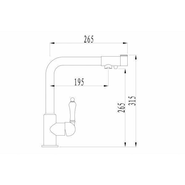 Смеситель ZorG ZR 320 YF-33 CLEAN WATER