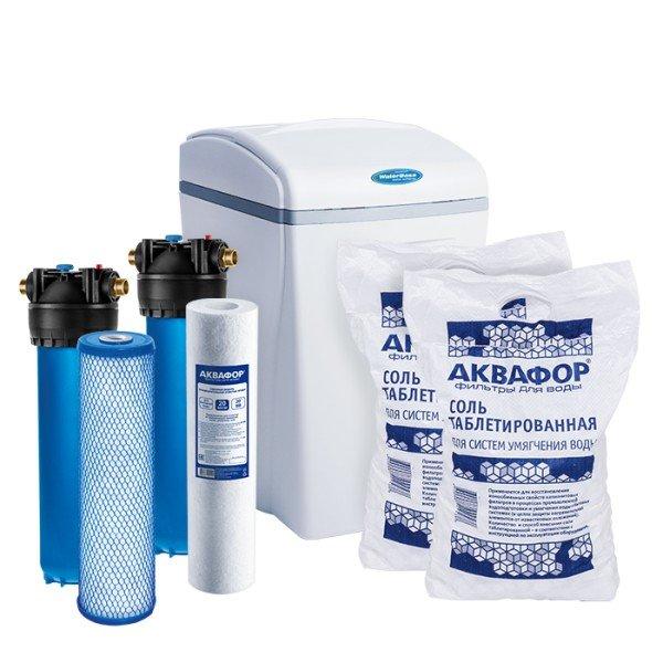 Умягчитель Аквафор WaterBoss 700 + Гросс 2 шт. + Фирменная соль Аквафор