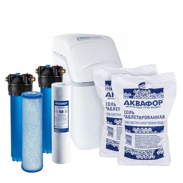 Умягчитель Аквафор WaterBoss 400 + Гросс 2 шт. + Фирменная соль Аквафор