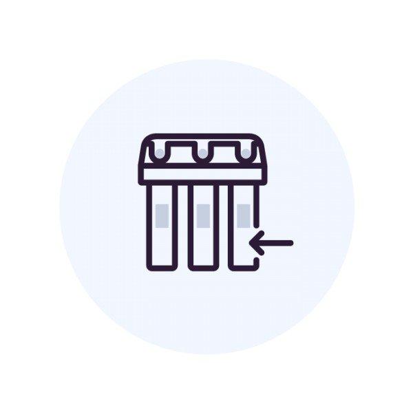 Установка индикатора ресурса без монтажа фильтра