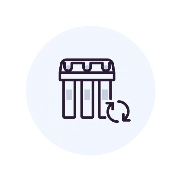 Загрузка сорбента в фильтр колонного типа