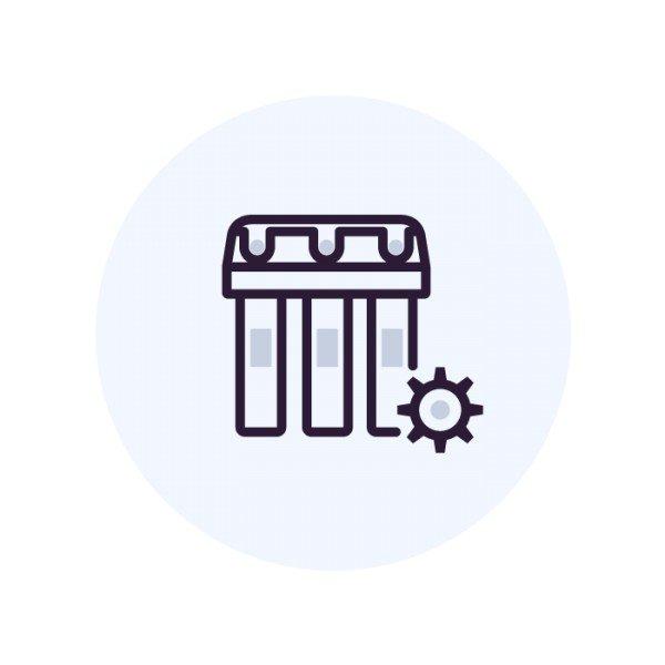 Запуск смонтированной системы водоочистки