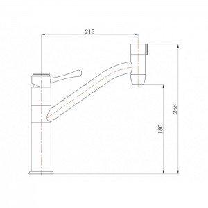 Смеситель ZorG кухня CLEAN WATER ZR 402 KF